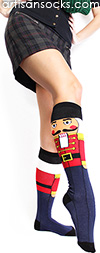 Nutcracker Socks - Knee High Holiday Socks by Sock It To Me