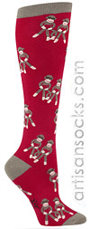 Sock It To Me Sock Monkey Socks (Sock Monkey Love Knee Highs)