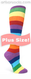 PLUS SIZE Sock it to Me Super Juicy Rainbow Knee Socks