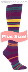 PLUS SIZE Sock it to Me Purple Haze Knee High Socks