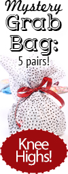 Knee High Socks Grab Bag - Gift Set of 5 Knee High Socks