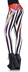 Stripe Pirate Leggings with Sash and Sword Detail