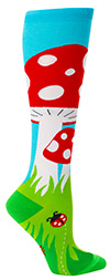 Toadstool Knee High Mushroom Socks