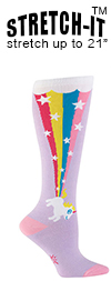 Farting Unicorn Rainbow Knee High Knee High Socks (STRETCH-IT Extra Stretchy Version)