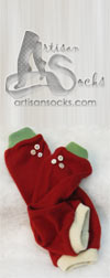 Original Cashmere Arm Warmers: Christmas