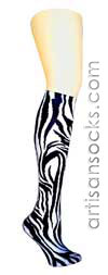 Violet Love Women's Socks - Zebra Wild Animal Print Trouser Socks