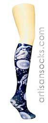 Violet Love Fight Club Animal Print Knee High Stockings / Trouser Socks