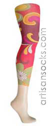 Violet Love Women's Socks Emilio Floral Print Leggings / Footless Tights