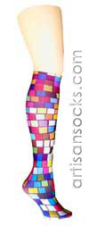 Tic Tac Geometric Print Knee High Trouser Socks
