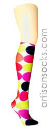 Violet Love Cupcake Geometric Print Knee High Stockings / Trouser Socks