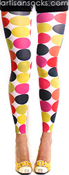 Cupcake Geometric Print Leggings