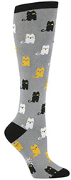 Winking Cat Knee High Socks