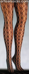 Black Mary Jane Patterned Lace Tights