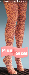 Leopard Print Plus Size Fashion Tights