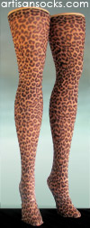 Leopard Print Thigh High Stockings -Rowr!