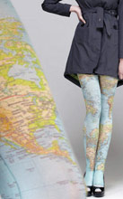 World Map Tights