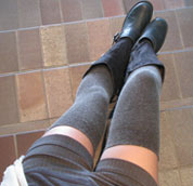Ozone ANGORA JAMBIERE BROWN Angora Thigh High Socks