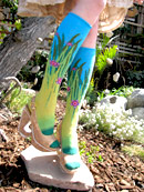 Ozone Sunny, Cloudy, Night Turquoise Knee High Knee Socks