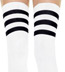 Sexy 3 Stripe Soccer Thigh Highs