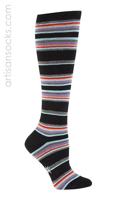 fe658a1f6 New York Black and Metro Stripe Knee High Socks