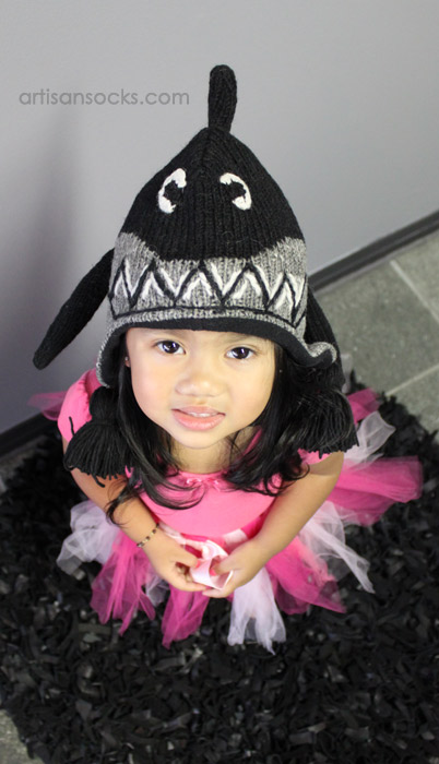 Fleece Lined Kids Animal Beanie Kids Shark Hat  sc 1 st  Artisan Socks & Kids Shark Hat: Fleece-Lined Shark Beanie for Kids!