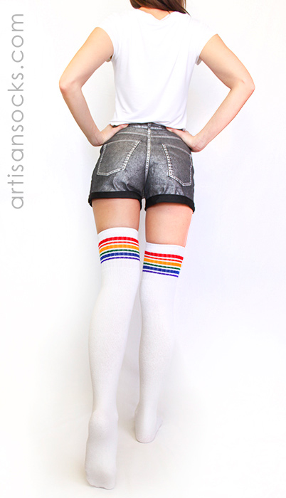 Thigh high sock porn