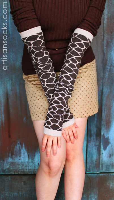 Rockn Socks Recycled Cotton Giraffe Print Arm Warmer Leg