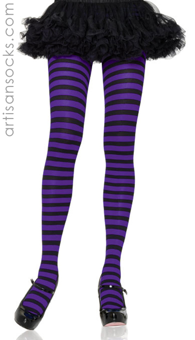 959cc6ad49d Sexy Plus Size Tights with Black   Purple Stripes