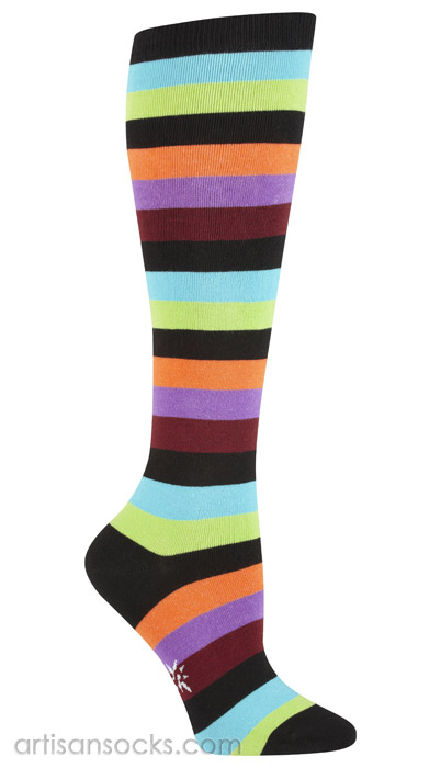 9cc9f043233 Striped Plus Size Socks - Multicolor Striped Knee High Socks