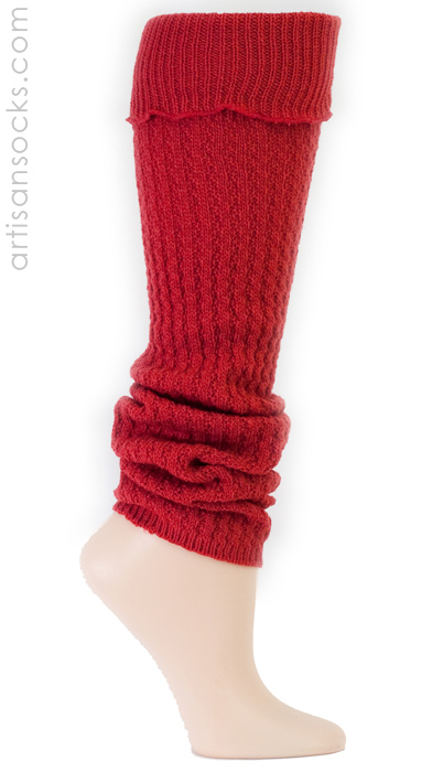 Sock It To Me Solid Color Red Leg Warmers