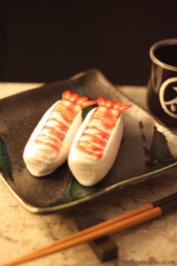 Shrimp Sushi Socks A Charming Alliteration Shipped From California