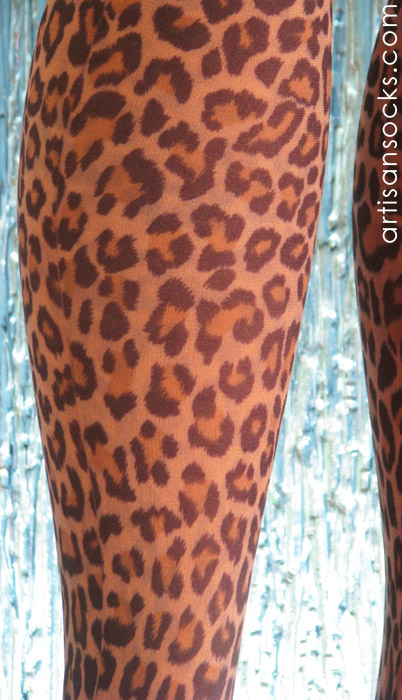 Leopard Print Thigh High Socks