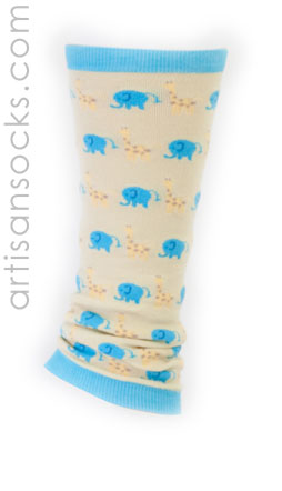 Elephant & Giraffe Leg Warmers for Baby