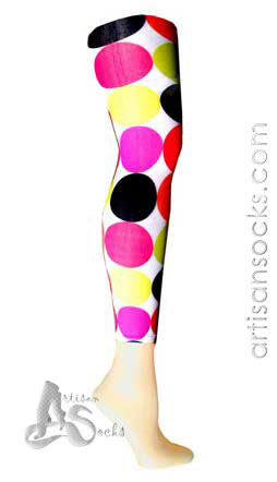 Celeste Stein Big Dots Geometric Print Leggings