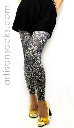 Black Plus Size Leggings with Bandana Print