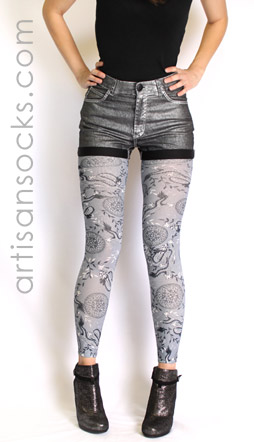 Gray Dragon Leggings
