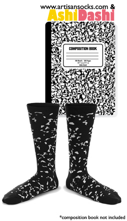Composition Book Crew Sock