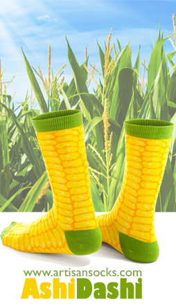 Me So Corny Crew Socks