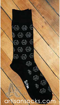Dieselsweeties D20 Gamer Dice Novelty Cotton Knee High Socks