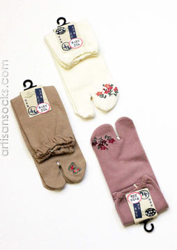 Japanese Tabi Socks with Non-Slip Top 3 color Choices!