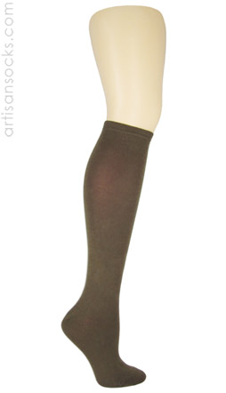 K. Bell Soft & Dreamy Solid Color Knee Highs - Brown