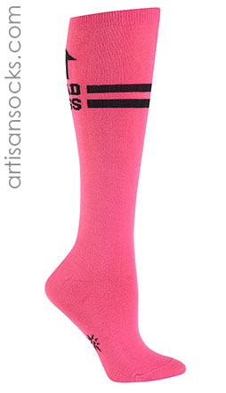 Pink Sock it To Me Badass Knee High Socks