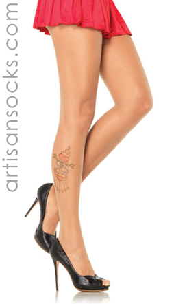 Nautical Sheer Tattoo Pantyhose