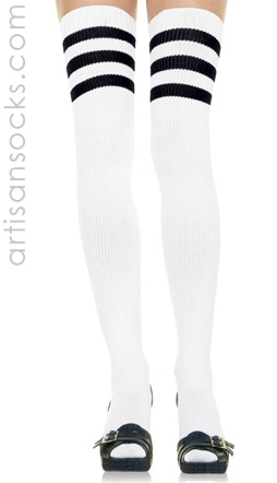Sexy Stripes Socks -  Soccer Thigh Highs