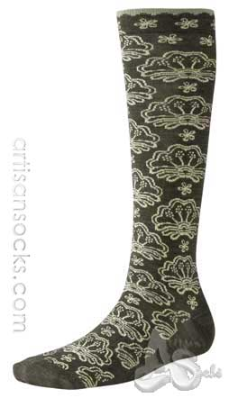 Smartwool FLORAL FAN Flower Print Wool Knee High Women's Socks