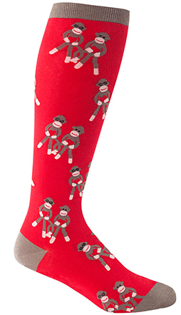 Sock Monkey Love Knee Highs - STRETCH-IT Version