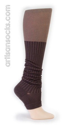 Sock It To Me Brown & Tan Open Toe Socks