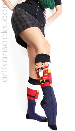 Nutcracker Christmas Socks