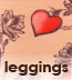 Celeste Stein Tattoo Print Leggings with Heart Pattern