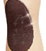 Hansel From Basel Sheer Nude Stockings with Sparkly Black Kneepad Accent